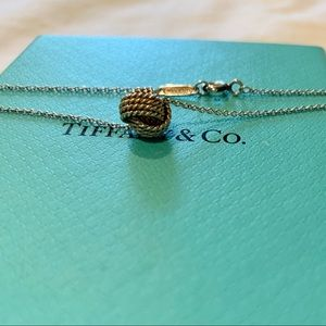 Tiffany Necklace Twist Knot Sterling Silver